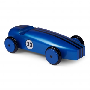 Wood Car Model, Blue - AR063